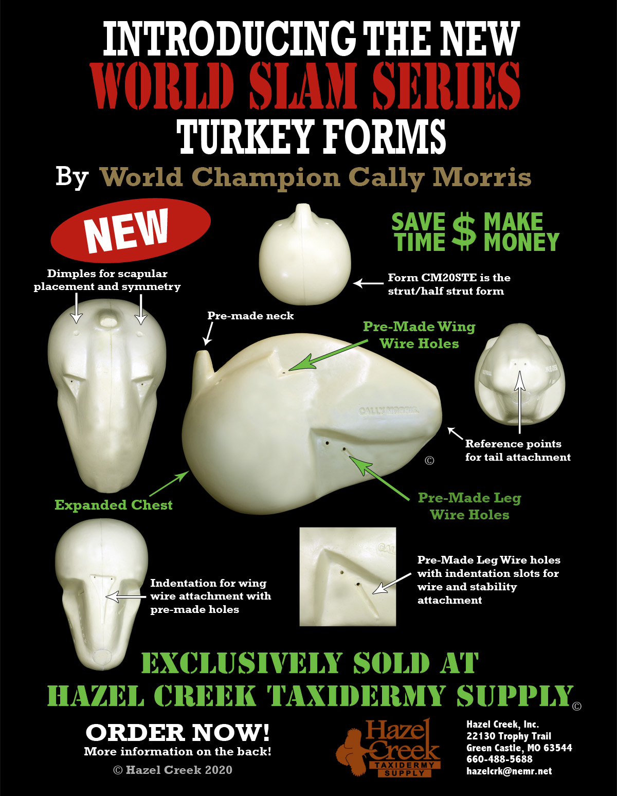 Forms for Turkey Taxidermy